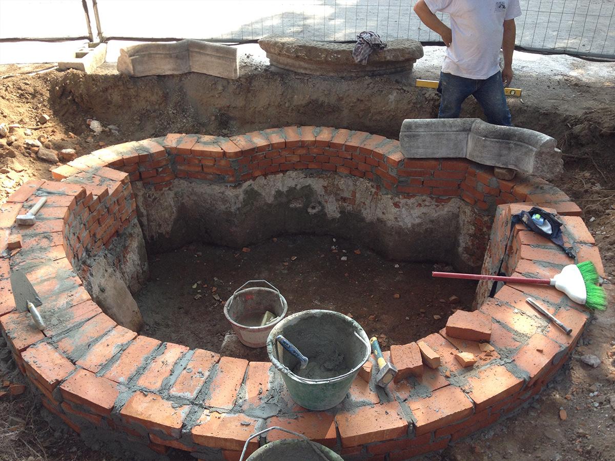 Csc ristrutturazione fontana Villa Litta
