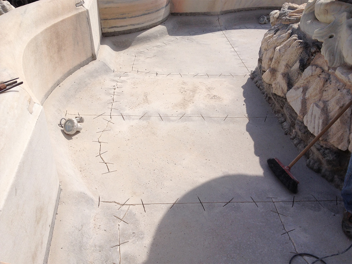 Csc impermeabilizzazione fontana VIlla LItta