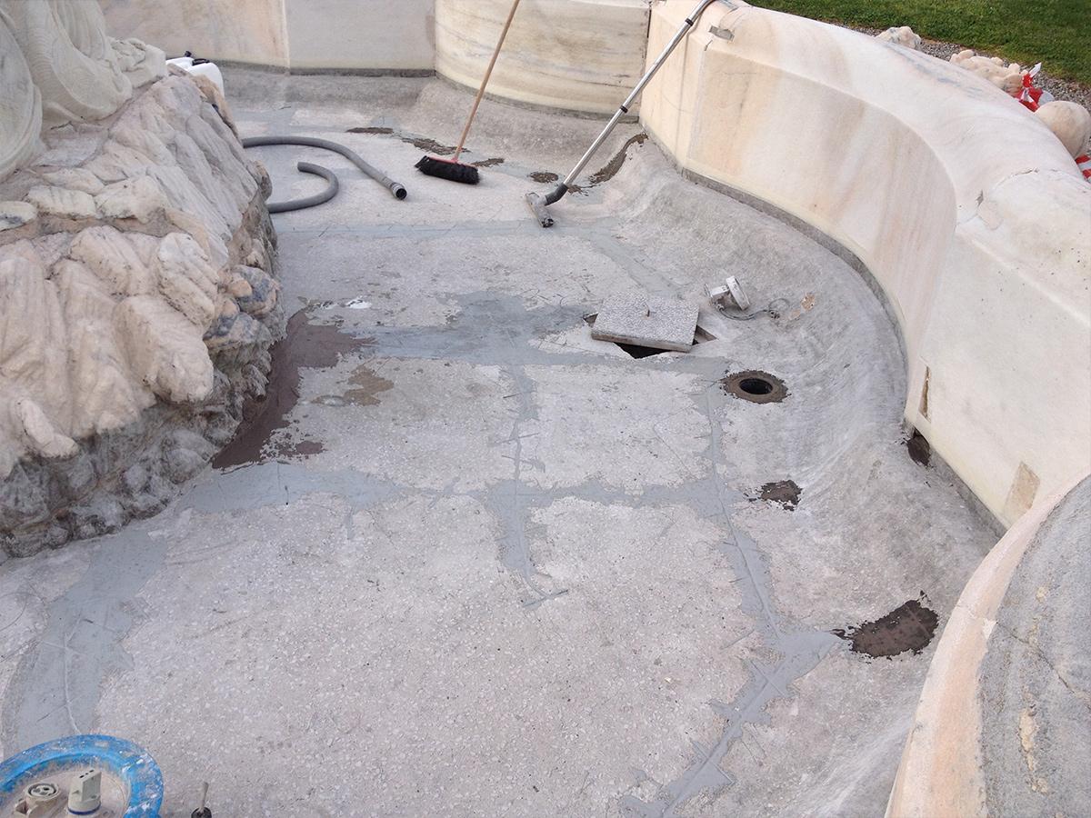 Csc impermeabilizzazione fontana Villa Litta 1