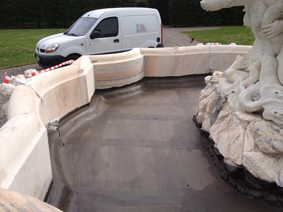 Csc impermeabilizzazione fontana Villa Litta 2