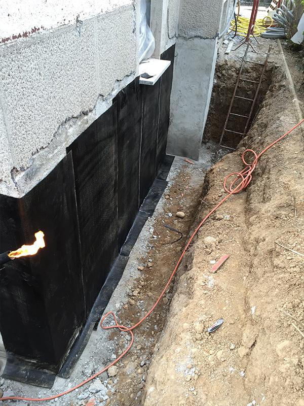 Csc impermeabilizzazione muro interrato